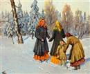 Olga Aleksandrovna (Princess of Storfyrstinde), A wintry scene with Russian women and a boy