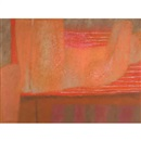 John Graham Coughtry, Abstract in orange and pink