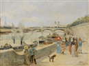F. Vogler, Along the seine