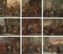 Circle Of Gerard Hoet the Elder, The Life of Joseph: Jacob sending Joseph to find his brothers in Shechem (+ 8 others; 9 works)