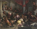 Attributed To Francesco Bassano, Christ driving the Moneychangers from the Temple