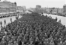 Mikhail Trachman, German war prisoners marching through Moscow