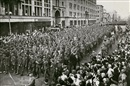 Mikhail Trachman, German war prisoners marching through Moscow (+ Russian onlookers; 2 works)
