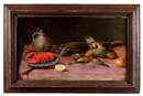 Attributed To Alexander Adriaenssen, Nature morte au homard et oiseaux