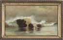 Elizabeth Wentworth Roberts, Seascape with rocks