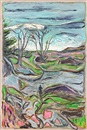 Billy Childish, Man in a landscape - North Beach San franscisco