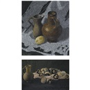 John Armstrong, Mushrooms and brown jug (+ another; 2 works)