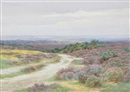 Charles James Adams, On the fringe of the moor (+ Thursley common; 2 works)