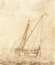 Attributed To Willem van de Velde the Elder, Étude de marine