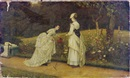 Arthur Longley Vernon, Elegant ladies tending to the garden