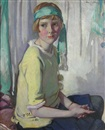 David Alison, Seated portrait of Violet Anderson as a girl
