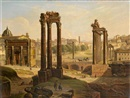 Michelangelo Pacetti, A view of the Roman forum from the Capitoline Hill