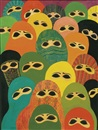 Laila Shawa, An endangered species, from the series women and the veil