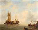 Govert van Emmerik, Ships in calm waters (+ Ships on a stormy sea; 2 works)
