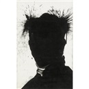 Richard Hambleton, Untitled, shadow head white (+ Untitled, shadow head yellow; 2 works)