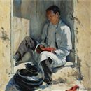 Walter Ufer, The red moccasins