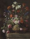 Mario Nuzzi, Lilies, carnations, roses, and other flowers