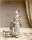 William Pryor Floyd, Studio portrait of a Japanese Moonsmi woman, Hong Kong