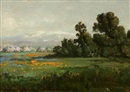 William Franklin Jackson, California landscape with poppies