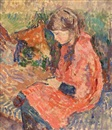 James Bolivar Manson, Girl reading