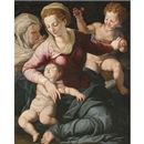 Attributed To Agnolo Bronzino, Madonna and Child with St. Anne and infant St. John the Baptist