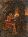 Follower Of Giovanni Bellini, Saint Jerome in the wilderness