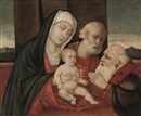 Follower Of Giovanni Bellini, The Holy Family with a male saint