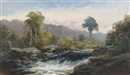 George Henry Jenkins, River landscape (+ Another; pair)