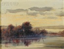 Alfred S. Mira, The lake at twilight