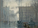 Paul Cornoyer, Rainy day, New York City