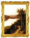 William Charles Piguenit, Lane Cove River from cliffs near bridge (New South Wales)