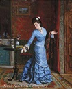 Gustave Léonhard de Jonghe, The blue gown