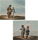 Karl Ivanovich Kollmann, Two child street vendors (+ Two child street vendors with brushes and buckets; 2 works)