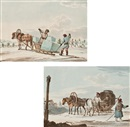 Karl Ivanovich Kollmann, Ice carriers (+ Peasants in a troika giving directions to a traveller; 2 works)