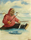 Ellen Henne Goodale, Eskimos ice fishing (pair)