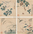 Jiang Pu, Flowers and insects (4 works)
