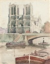 James Bolivar Manson, Notre Dame, Paris (+ A street in Paris; 2 works)