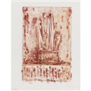 Jasper Johns, Savarin 3 (Red)