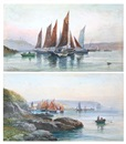 George Henry Jenkins, Under the citadel, Plymouth (+ Trawlers preparing for sea - Ullswater, Plymouth; pair)
