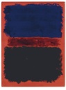 Mark Rothko, Blue, red, black on red