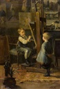 Henry Jules Jean Geoffroy, In the artist's studio