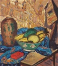 Sara Dora Block Alexander, Still life with a bowl of fruit