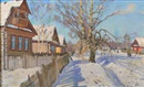 Attributed To Konstantin Feodorovich Yuon, Village in snow