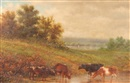 John William Casilear, Cattle at the stream