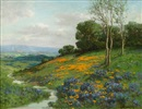 William Franklin Jackson, Early spring, Sonoma, California poppies and lupine