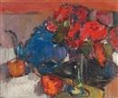 Gordon Bryce, Red roses, blue teapot