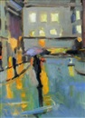Paul Bassingthwaighte, Empty street (+ Wet evening, study, lrgr; 2 works)