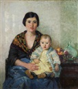 Pauline Palmer, Portuguese mother and child