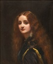 Attributed To George Elgar Hicks, Portrait of a girl