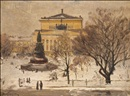 Aleksei Matveevich Prokofiev, Winter scene by the Alexandrinski Theater in the Jekaterina Park